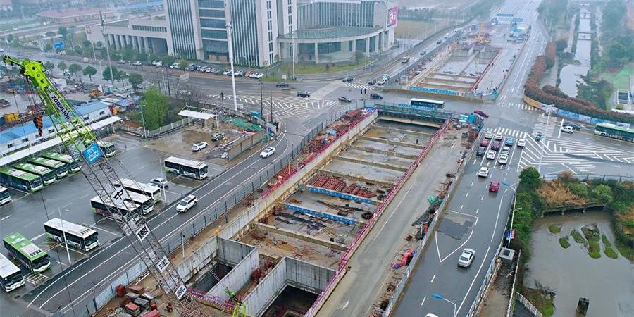 长沙地铁6号线河西段首个车站主体完工