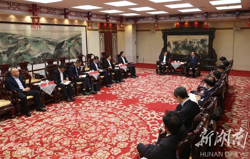 湖南省政府与中兴通讯举行会谈 许达哲出席