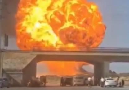 陕西榆林发生一起罐车燃爆事故