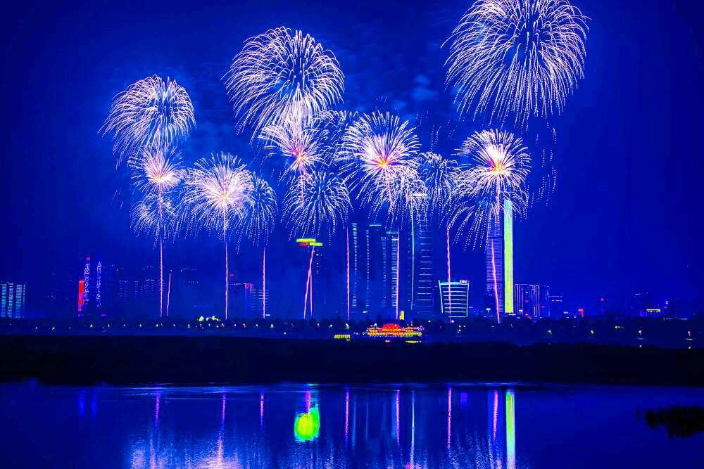 中国航天日 焰火升腾时 新湖南www.hunanabc.com