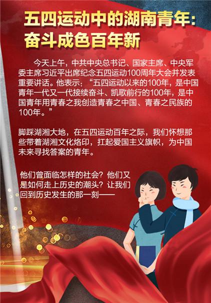 一图读懂丨五四运动中的湖南青年:奋斗成色百年新
