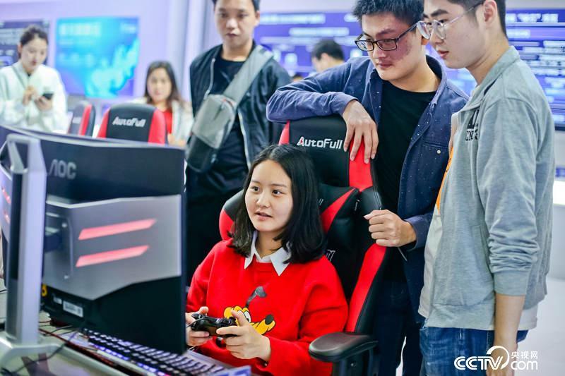 数字中国建设成果展览会上展示的自主创新研发游戏平台