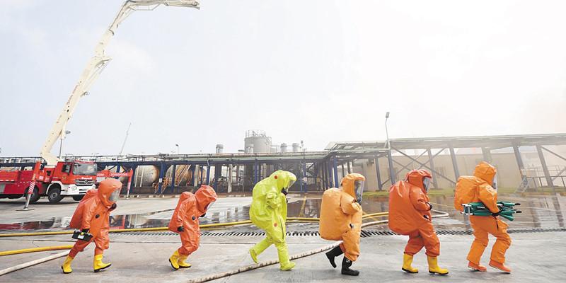郴州市举行大型危化品事故处置综合应急演练