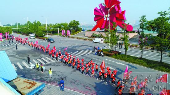 2019湘江马拉松赛(湘潭站)举行