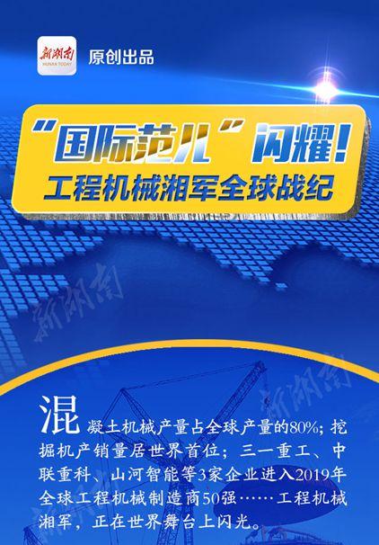 """""""国际范儿""""闪耀!工程机械湘军全球战纪"""