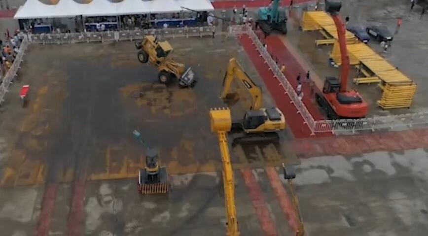 长沙国际工程机械展丨场面太大了!只有无人机拍得下来