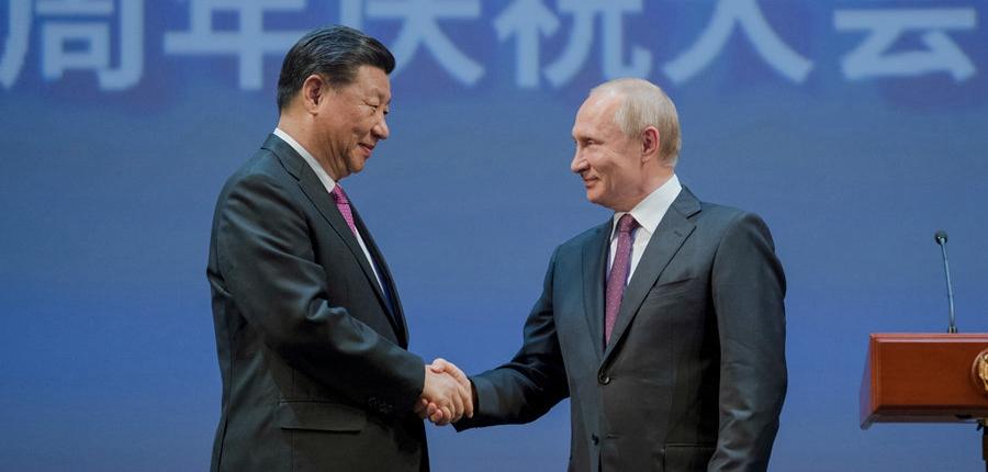习近平和俄罗斯总统普京共同出席中俄建交70周年纪念大会并观看文艺演出