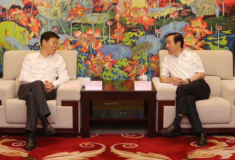 省政府与国家税务总局举行会谈 许达哲王军出席
