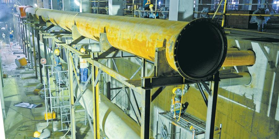 水质净化厂加紧施工