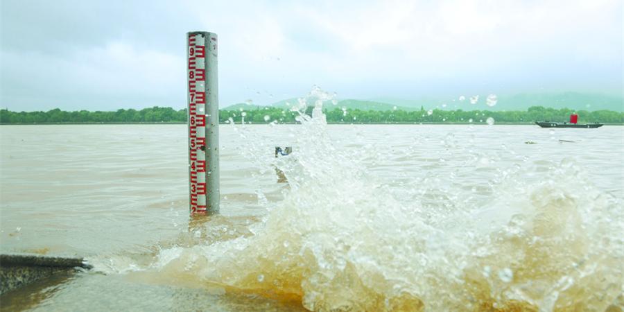 湘江长沙段水位上涨