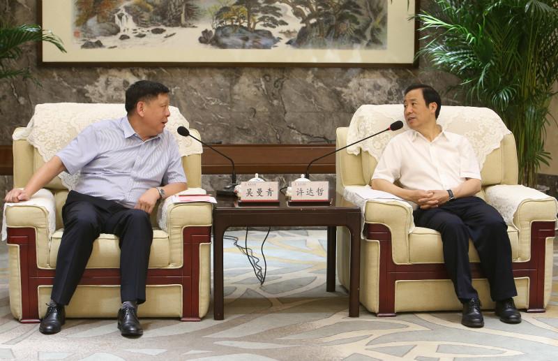 湖南省政府与中国电子科技集团举行会谈 许达哲出席