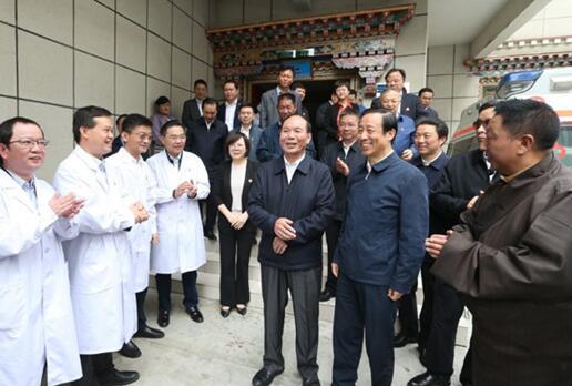 许达哲率湖南省党政代表团赴西藏山南考察对口支援工作