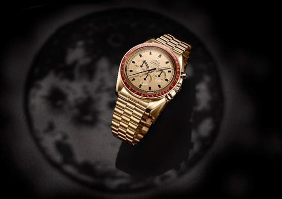 """欧米茄超霸系列""""阿波罗11号""""50周年纪念限量版腕表 Moonshine 18K金款"""