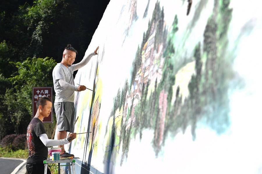 十八洞村美景入画来 新湖南www.hunanabc.com