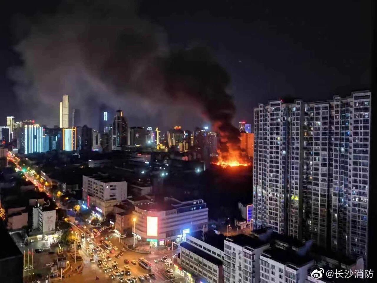 长沙曙光电子厂火灾已扑灭,没有