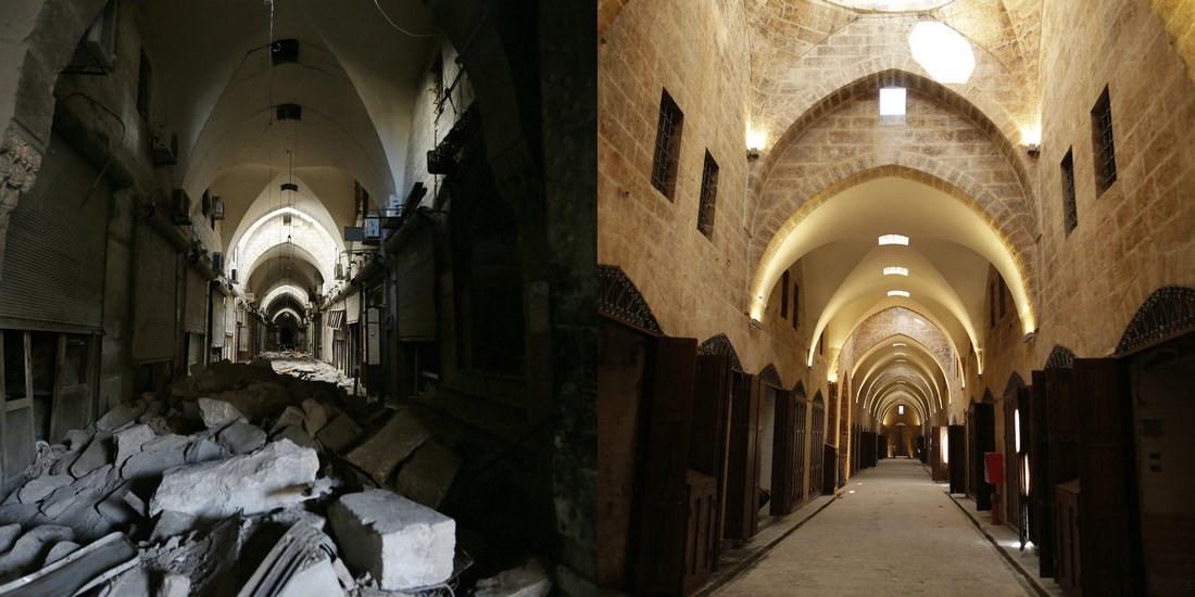 逐步恢復的阿勒頗傳統集市