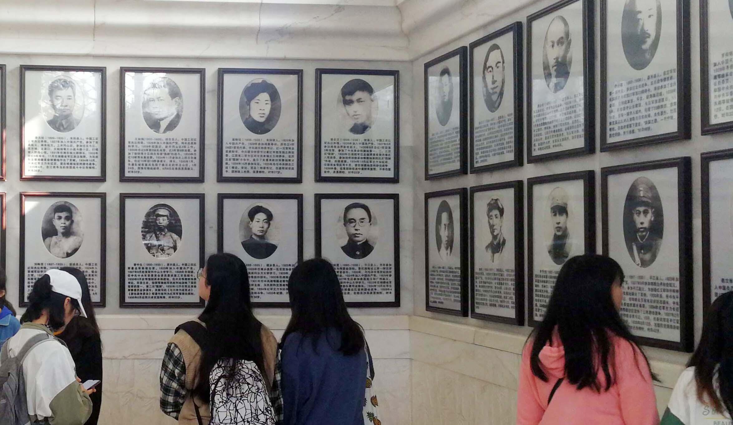 湖南烈士公园纪念塔陈列馆一角。长沙晚报全媒体记者 周柏平 摄
