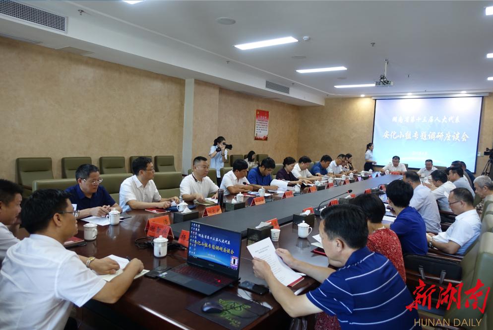 李微微参加省人大代表安化小组专题调研