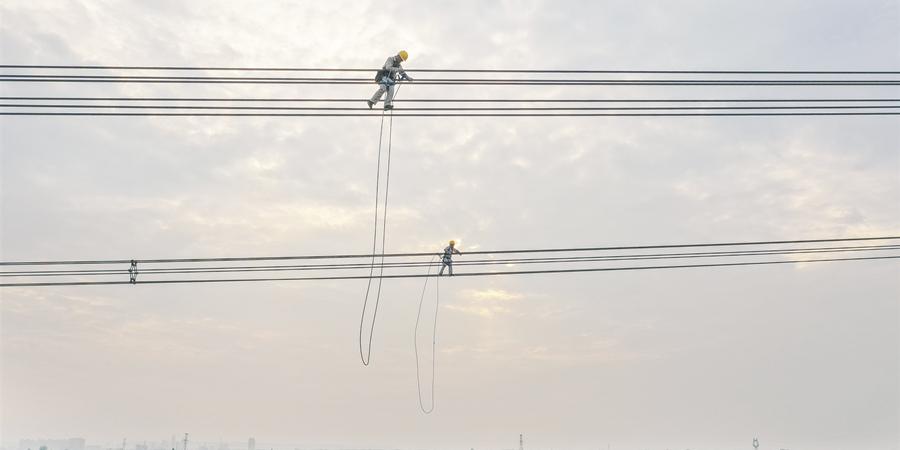 """高空""""走线""""护电网"""