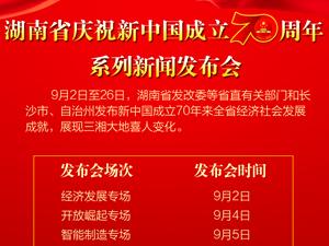 展现三湘大地喜人变化 湖南将举行12场专场新闻发布会