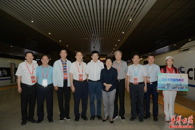 第十一届全国民族运动会今晚开幕 湖南省副省长、代表团团长吴桂英抵达郑州