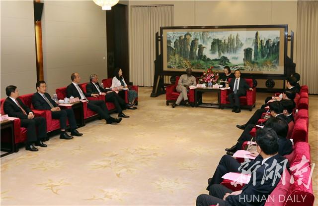 许达哲会见中非人民币国际化论坛参会代表
