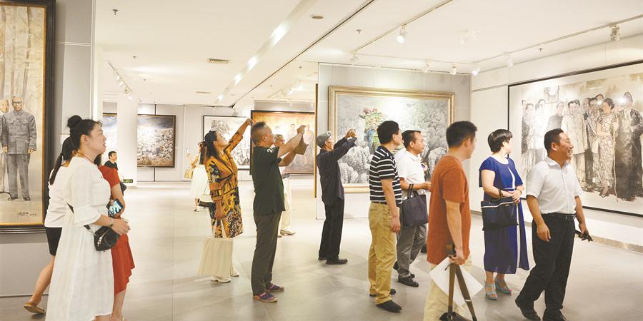 湖南百年重大历史题材美术作品巡展回湖南