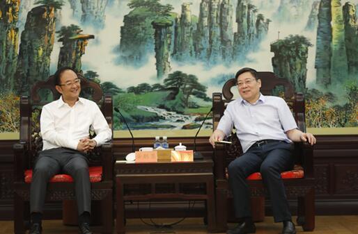 杜家毫与浙江吉利控股集团总裁安聪慧座谈