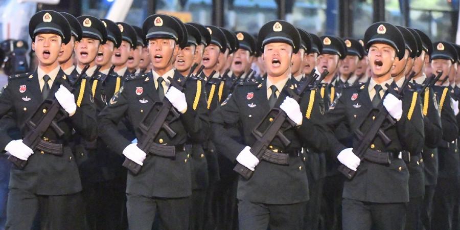 参加国庆阅兵的全体受阅官兵集结完毕