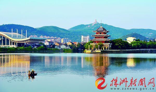 美丽的醴陵渌江一角。株洲日报通讯员 黄双周 记者 谭清云 摄