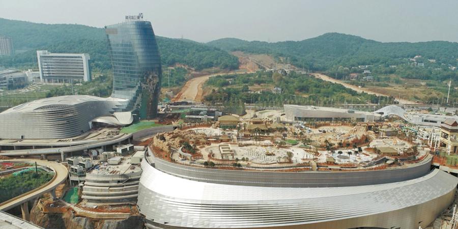 湘江欢乐城进入扫尾施工