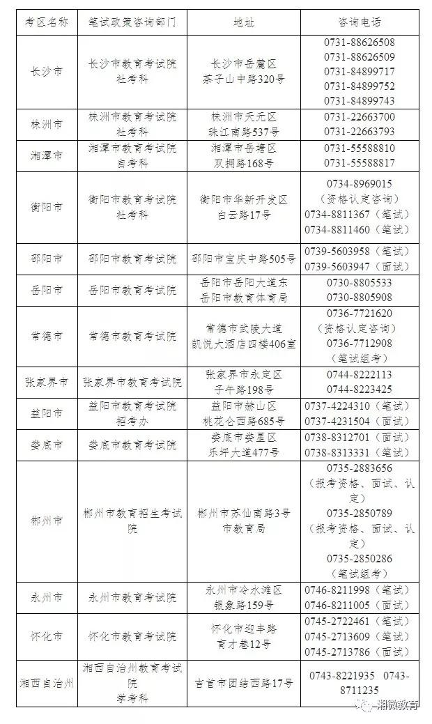 教师资格考试明天开考!这些内容要注意 新湖南www.hunanabc.com