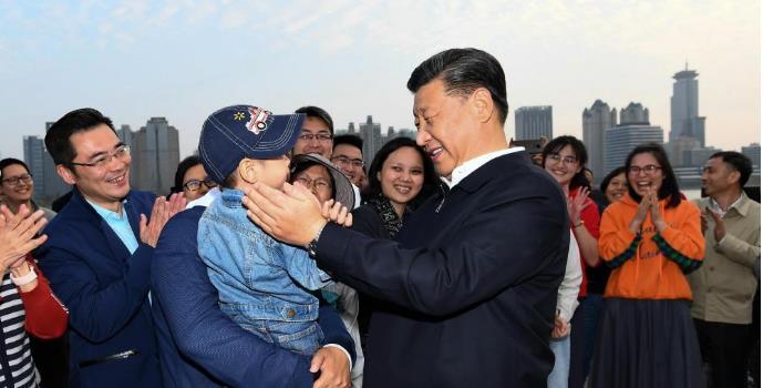 习近平考察杨浦滨江公共空间杨树浦水厂滨江段