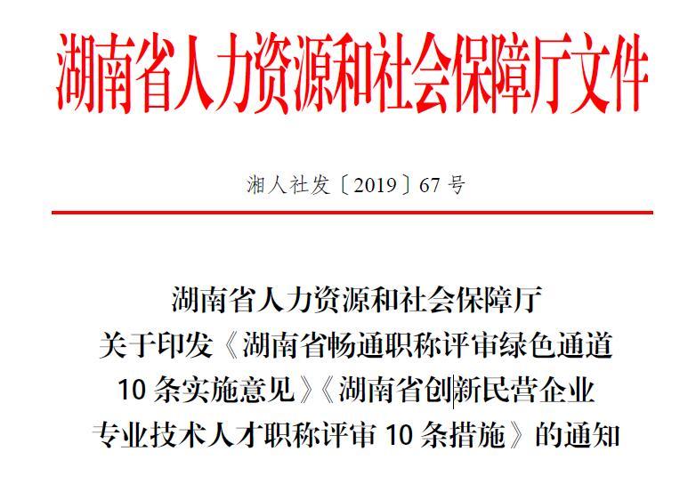 """激发人才创新创造活力 湖南省正式实施职称制度""""双10条"""""""
