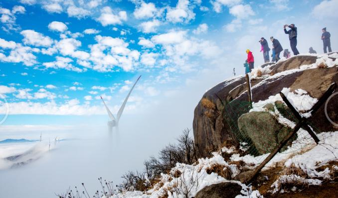 新年伊始观冰雪雾凇,去南方雪乡云冰山迎新登高