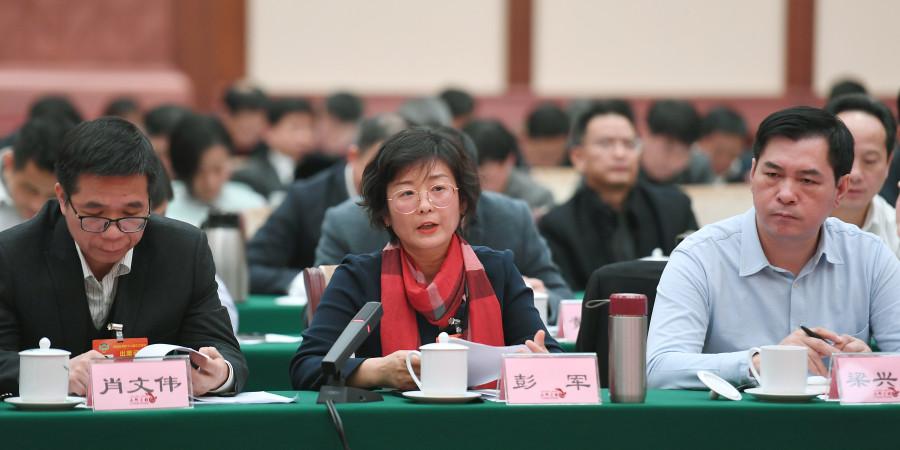 政协委员在联组会议上畅言