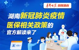 湖南新冠肺炎疫情医保相关政策的官方解读来了