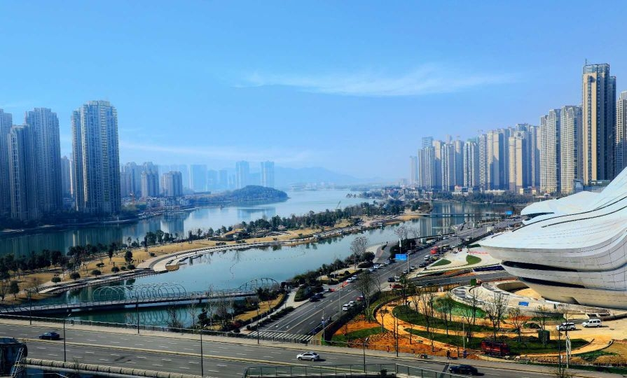 美丽的梅溪湖 新湖南www.hunanabc.com