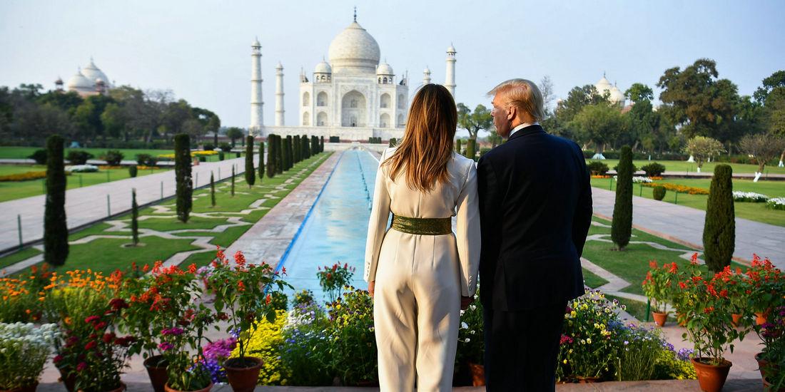 美国总统特朗普访问印度