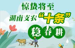 """驚蟄(zhe)將至(zhi),湖南支農(nong)""""十(shi)條""""穩春耕"""