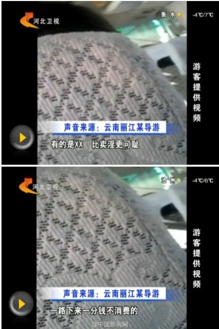 丽江导游骂游客不买东西比卖淫可耻