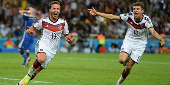 加时绝杀!德国1-0阿根廷夺冠
