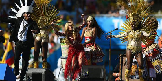 世界杯闭幕式 夏奇拉携众星献唱