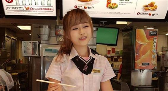 台湾麦当劳女生爆红 粉丝蜂拥而至