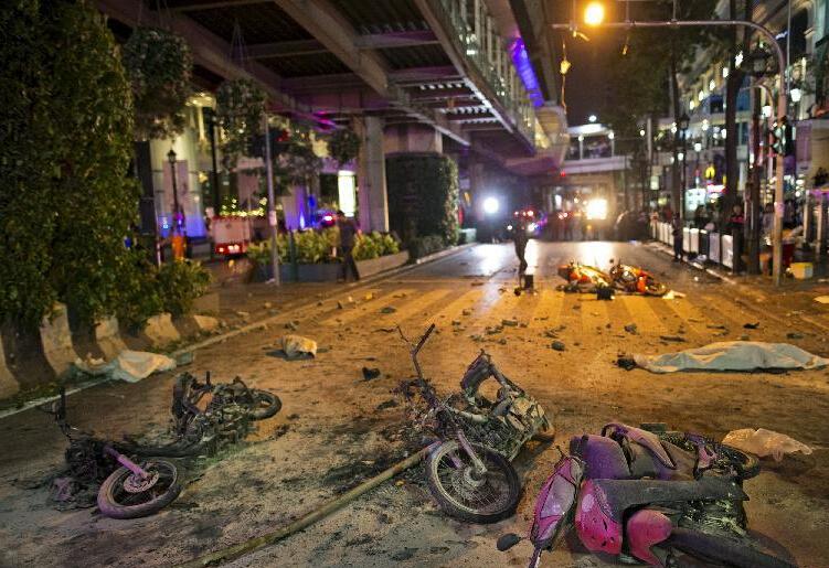泰国曼谷著名景点附近发生人为严重爆炸事件