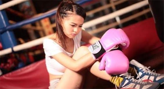 拳击美女主持美艳性感照