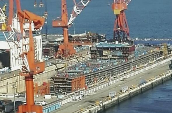 外媒:疑似国产航母最新进展 或于2019年服役