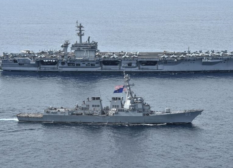 美军闯南海新动态:航母率两艘宙斯盾舰(图)