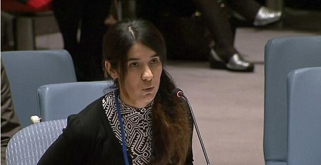 IS性奴到联合国安理会控诉:被轮奸到昏厥