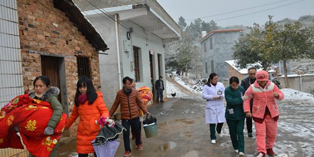 郴州孕妇雪夜凌晨临盆 医生视频指导接生母婴平安
